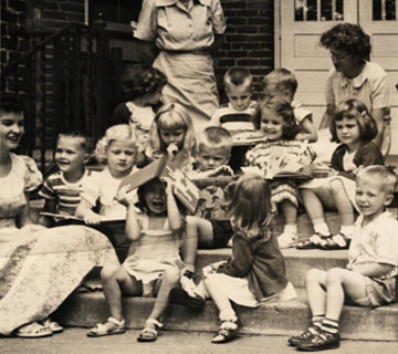historical photo of children at Lucy Brock