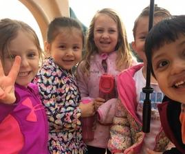 Preschoolers in the Rain