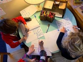 3 Preschoolers writing books
