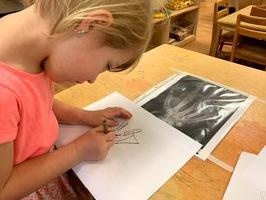 Preschooler Drawing A hand