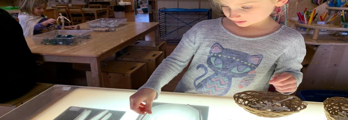 Preschooler learning bones